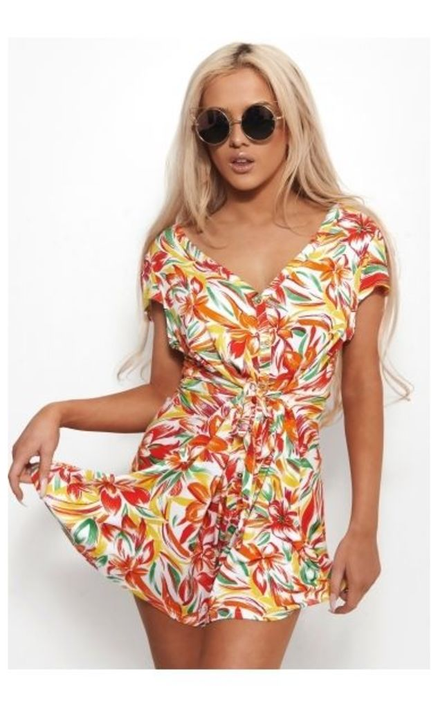 Kayln Floral Tropical Print Playsuit