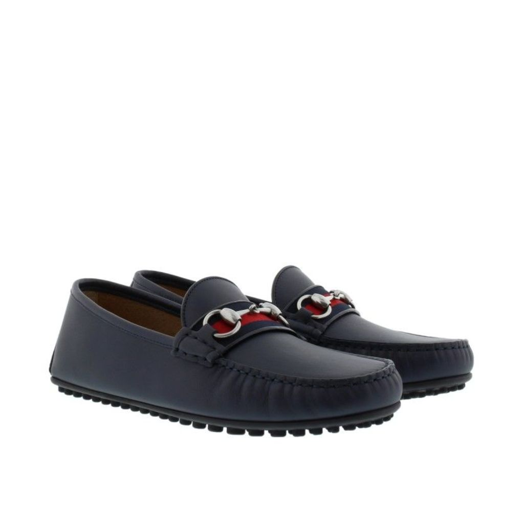 Gucci Loafers & Slippers - Soft Leather Loafers Blue - in blue - Loafers & Slippers for ladies