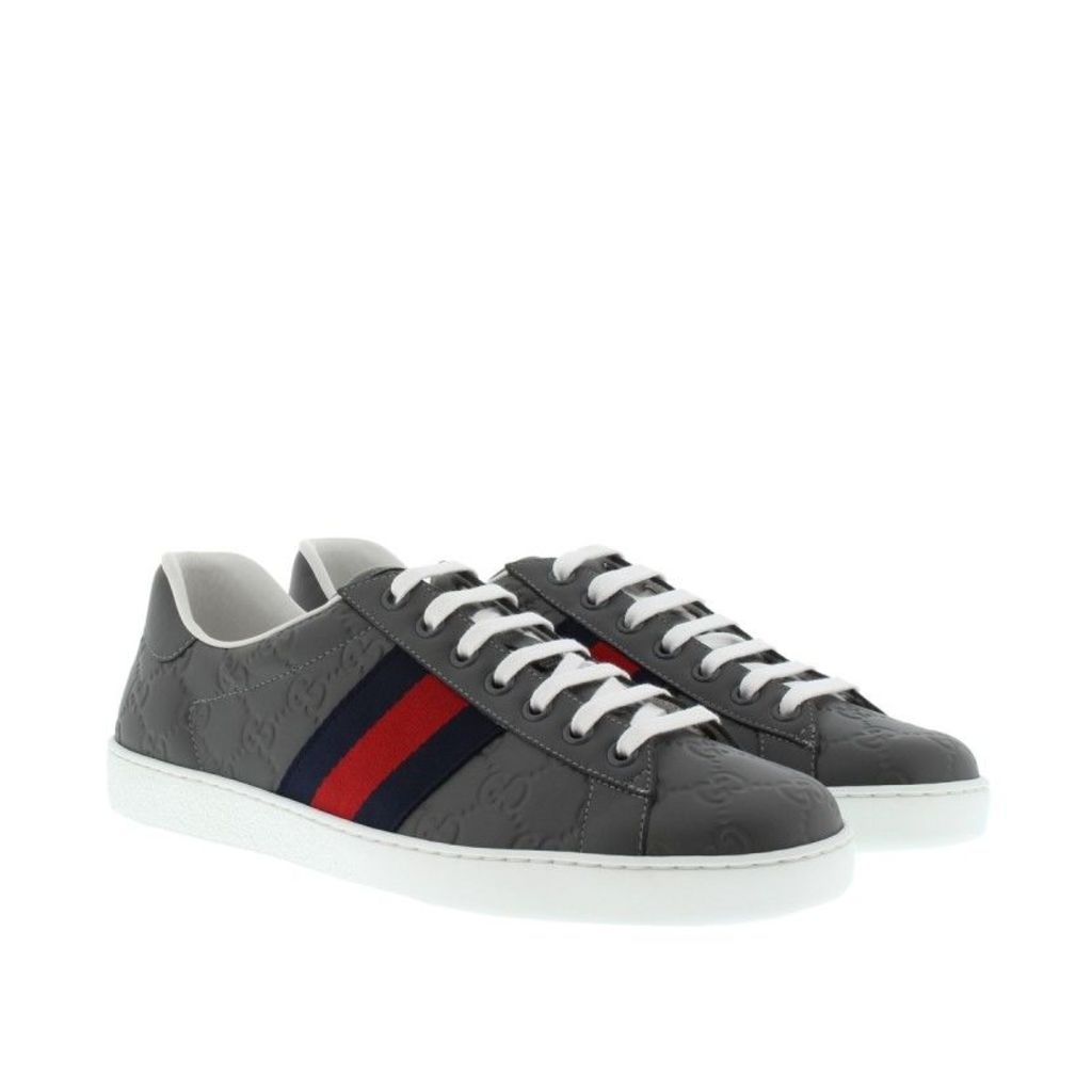 Gucci Sneakers - Low Top Sneaker Ace Leather Grey - in grey - Sneakers for ladies