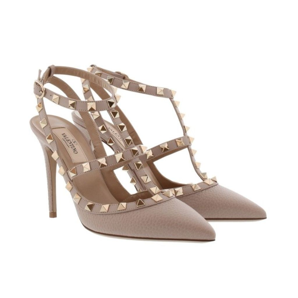 Valentino Pumps - Rockstud Ankle Strap Pump Poudre - in rose - Pumps for ladies