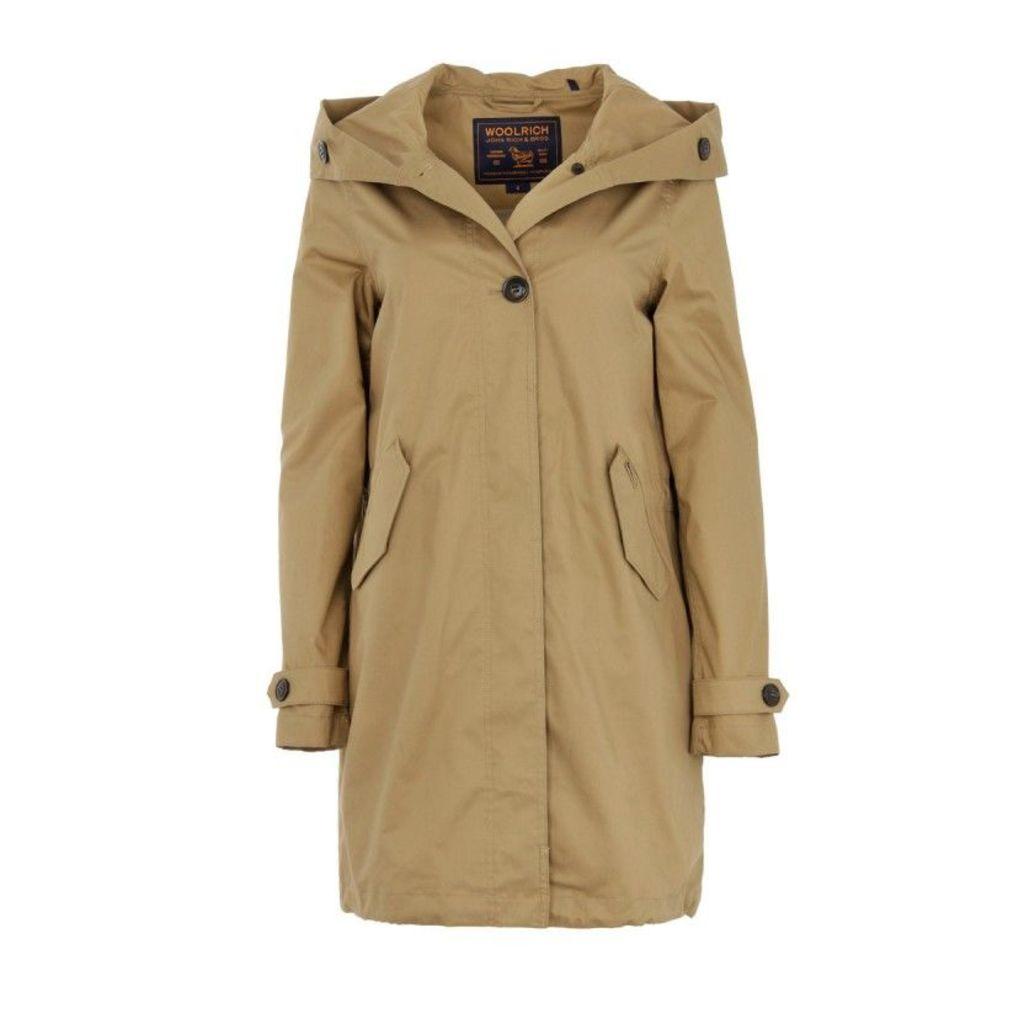 Woolrich Coats - Prescott Parka Orcher - in beige - Coats for ladies