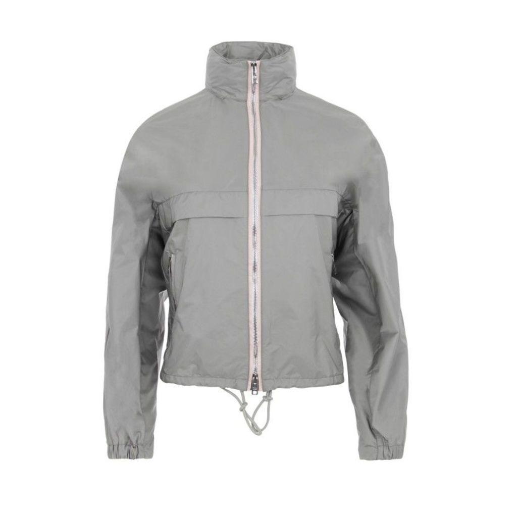Prada Coats - K-Way Nylon Piuma Jacket Argento + Rosa - in rose, grey - Coats for ladies