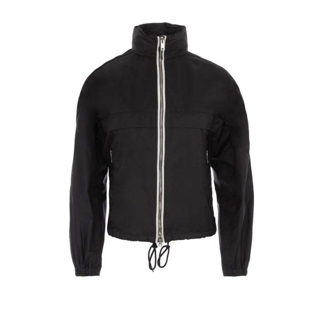 Prada Coats - K-Way Nylon Piuma Jacket Nero + Bianco + Nero - in black - Coats for ladies