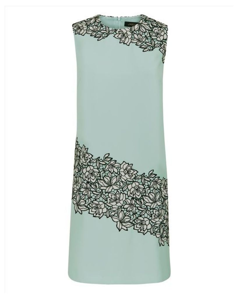 Lace Panel A-line Dress