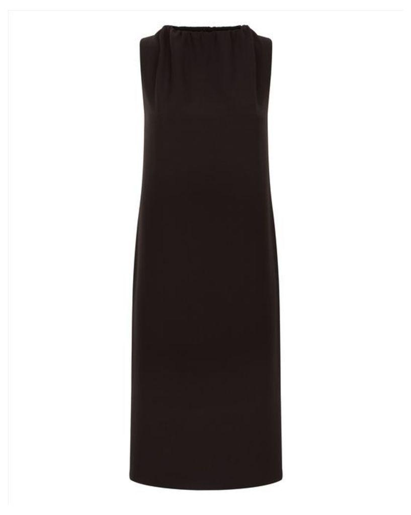Ruched Neck Column Dress