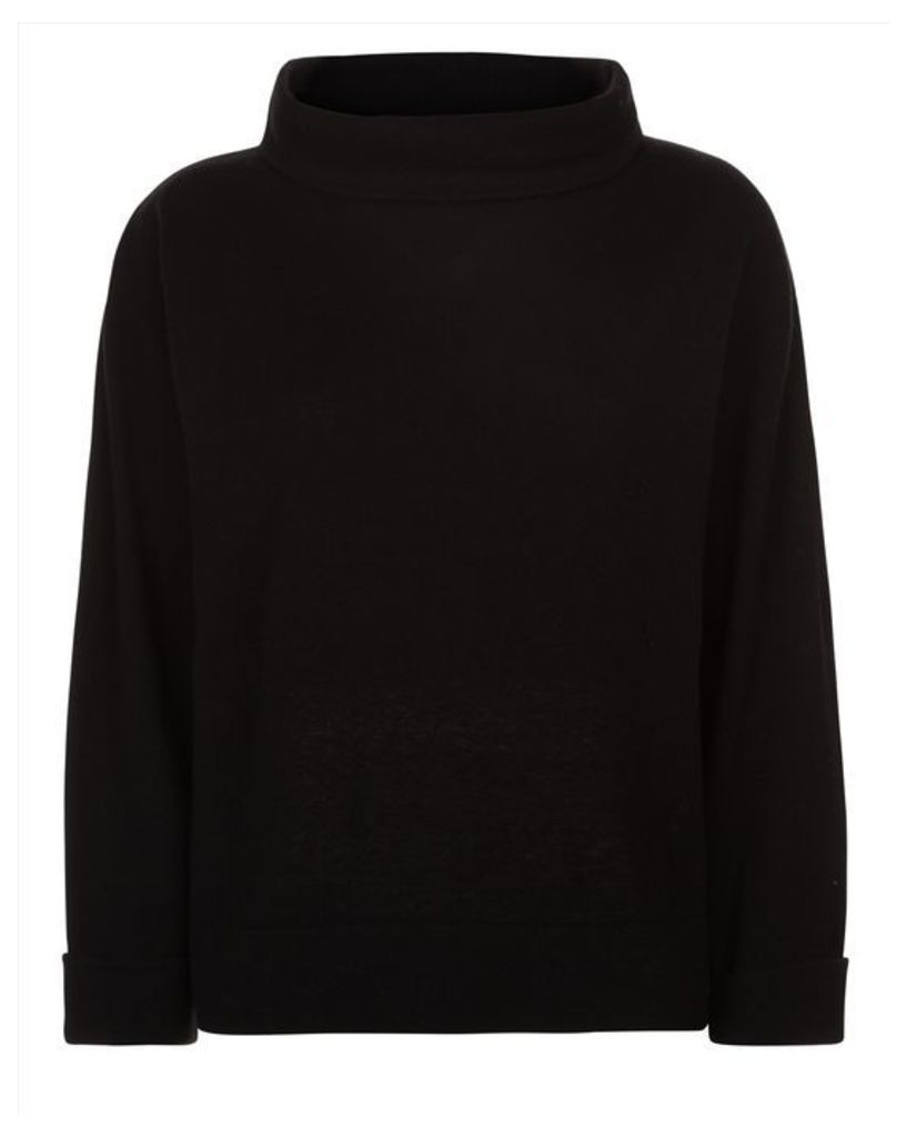 Wool Cashmere Funnel Sweater