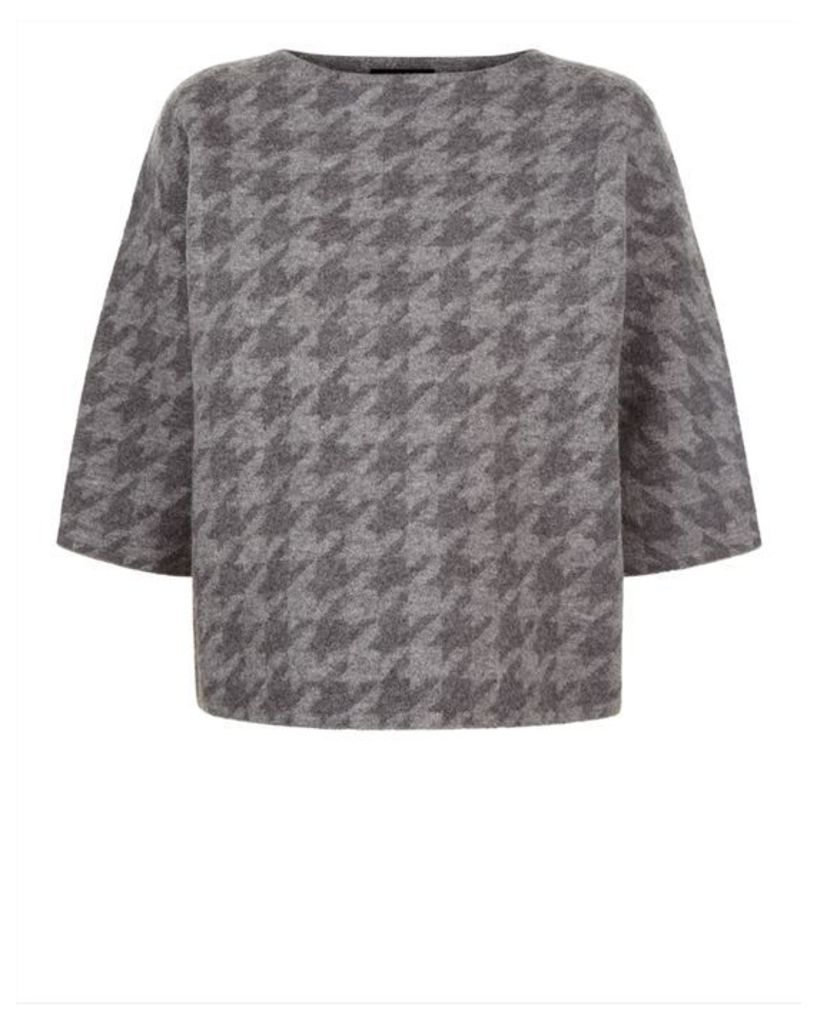 Wool Houndstooth Sweater