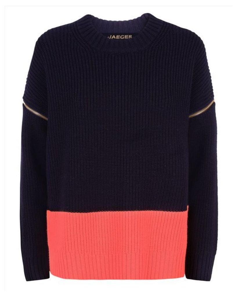 Wool Zip-Off Sleeve Sweater