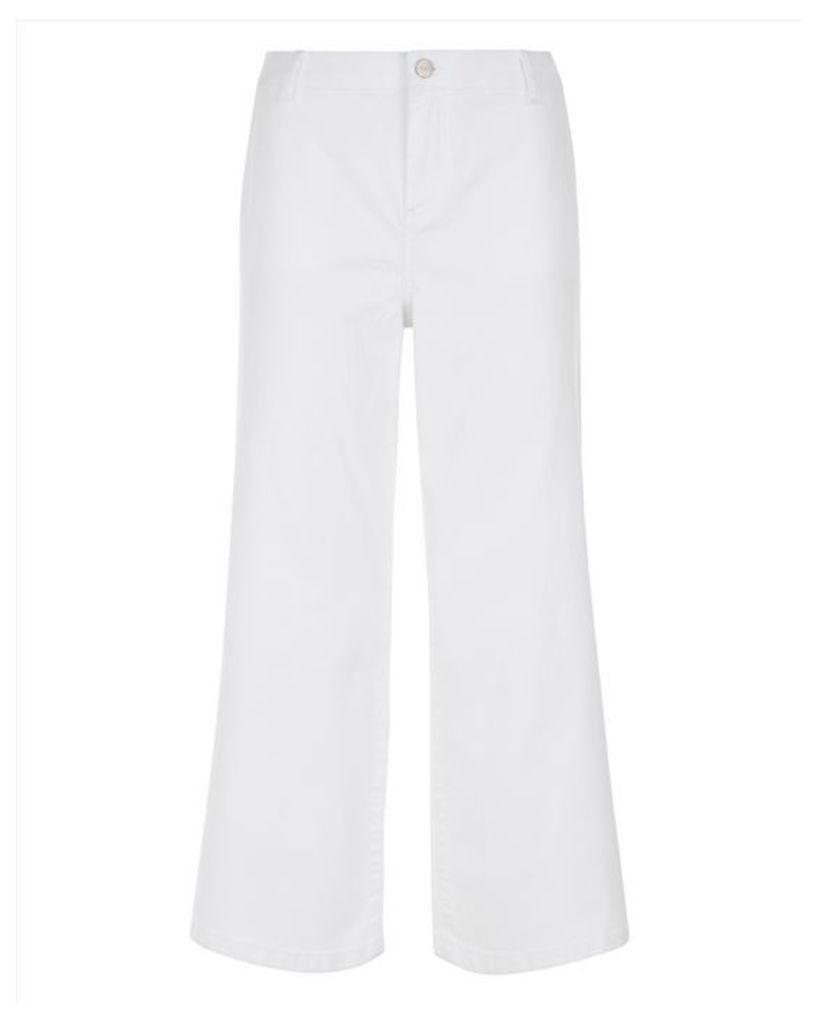 White Denim Culottes