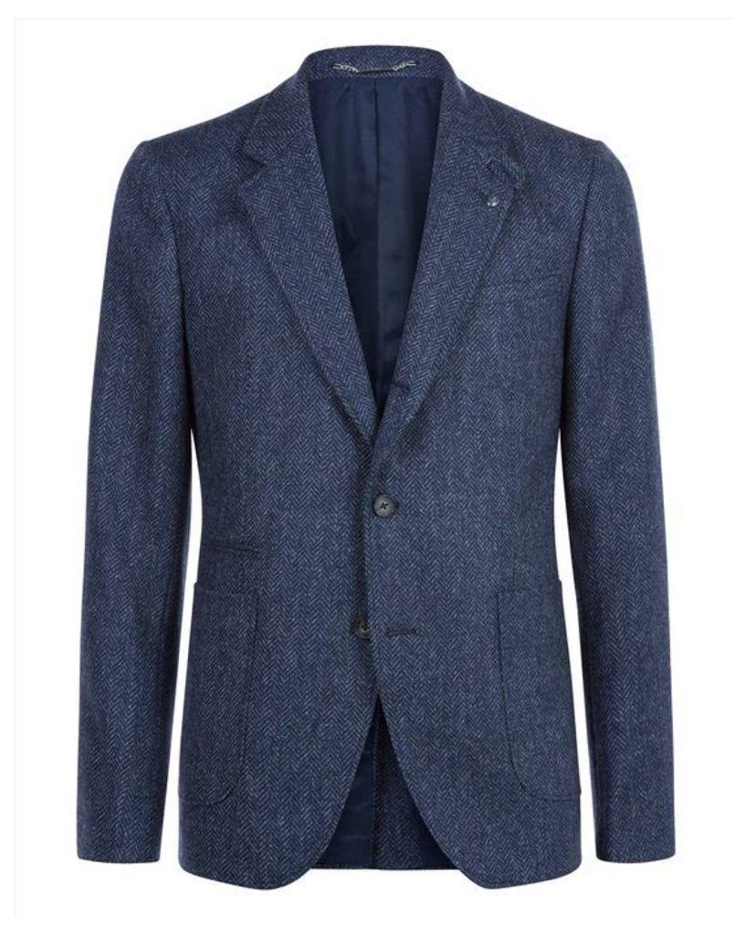 Wool Herringbone Slim Jacket