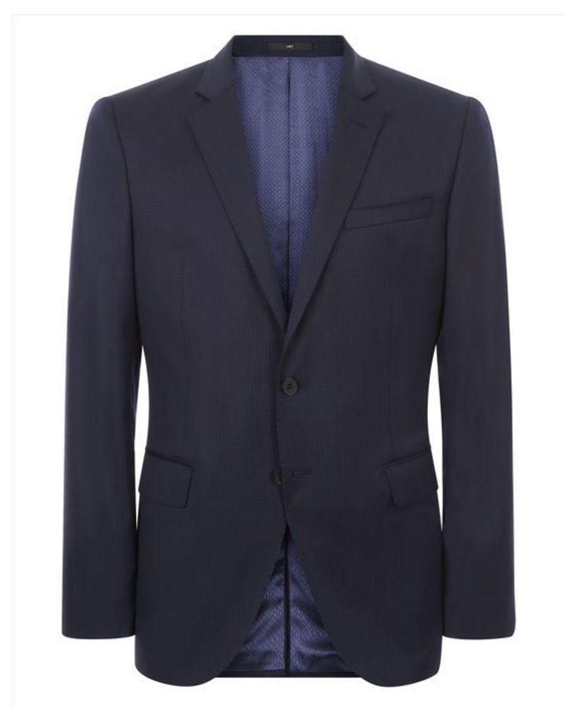 Wool Mini Check Slim Jacket