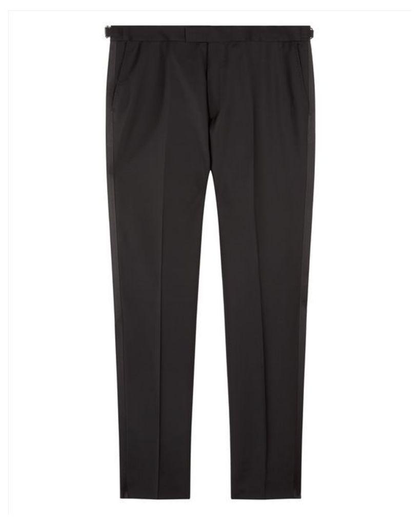 Wool Mohair Slim Trousers