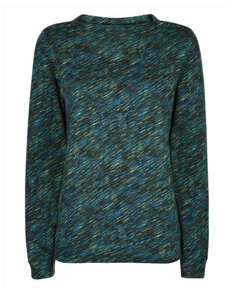 Diagonal Dash Print Sweatshirt