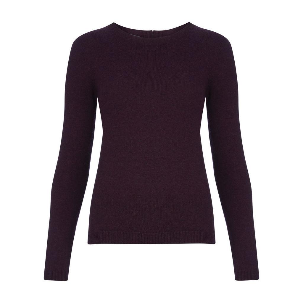 Velvet Zip Back Wool and Cashmere Jumper