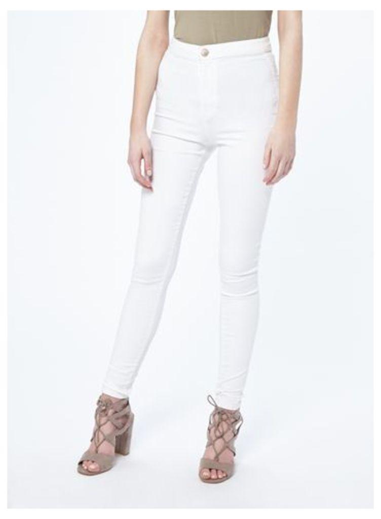 Womens STEFFI White Super High Waist Jean, White