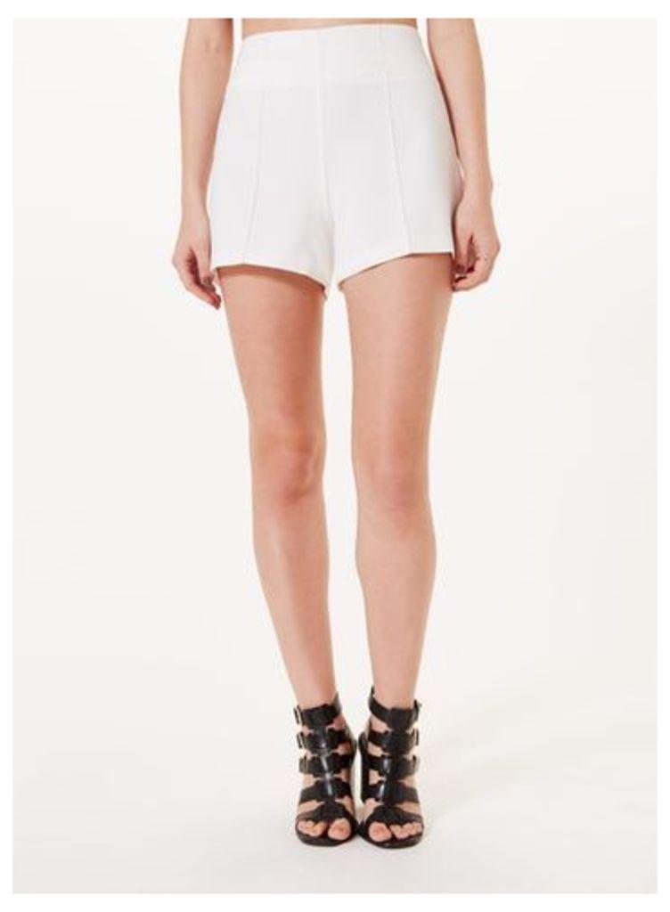Womens Ivory Tailored Short, Ivory