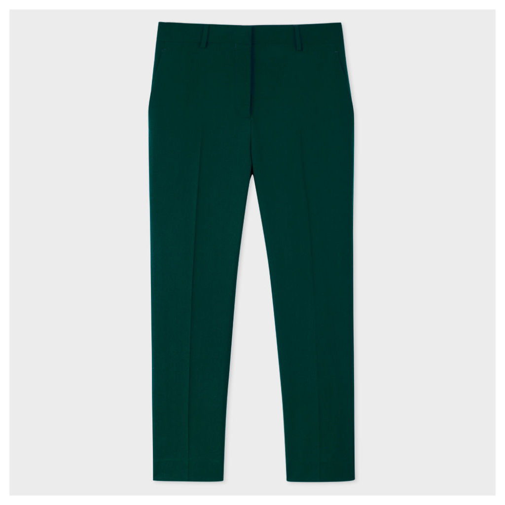 A Suit To Travel In - Women's Dark Green Wool-Twill Trousers