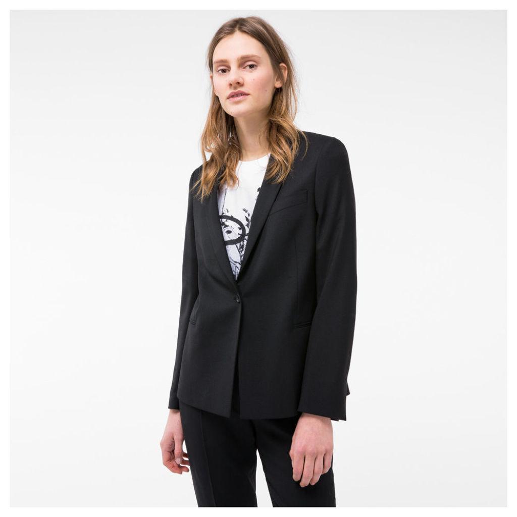Women's Black Wool Blazer