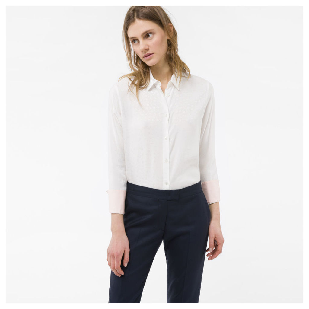 Women's White Silk Shirt