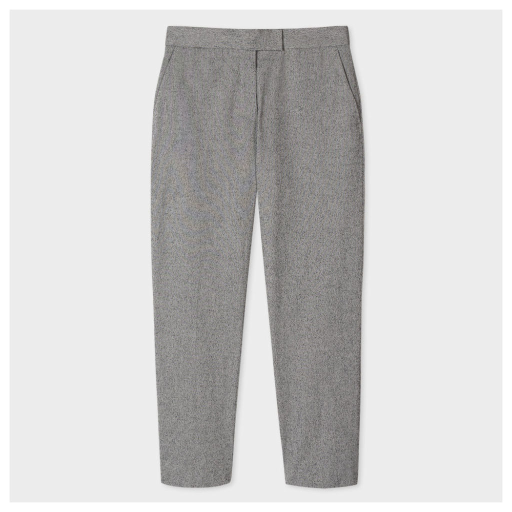 Women's Grey Salt-And-Pepper Trousers