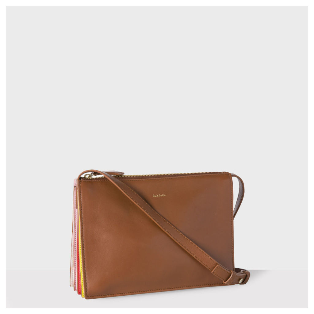 Women's Tan 'Concertina' Cross-Body Bag