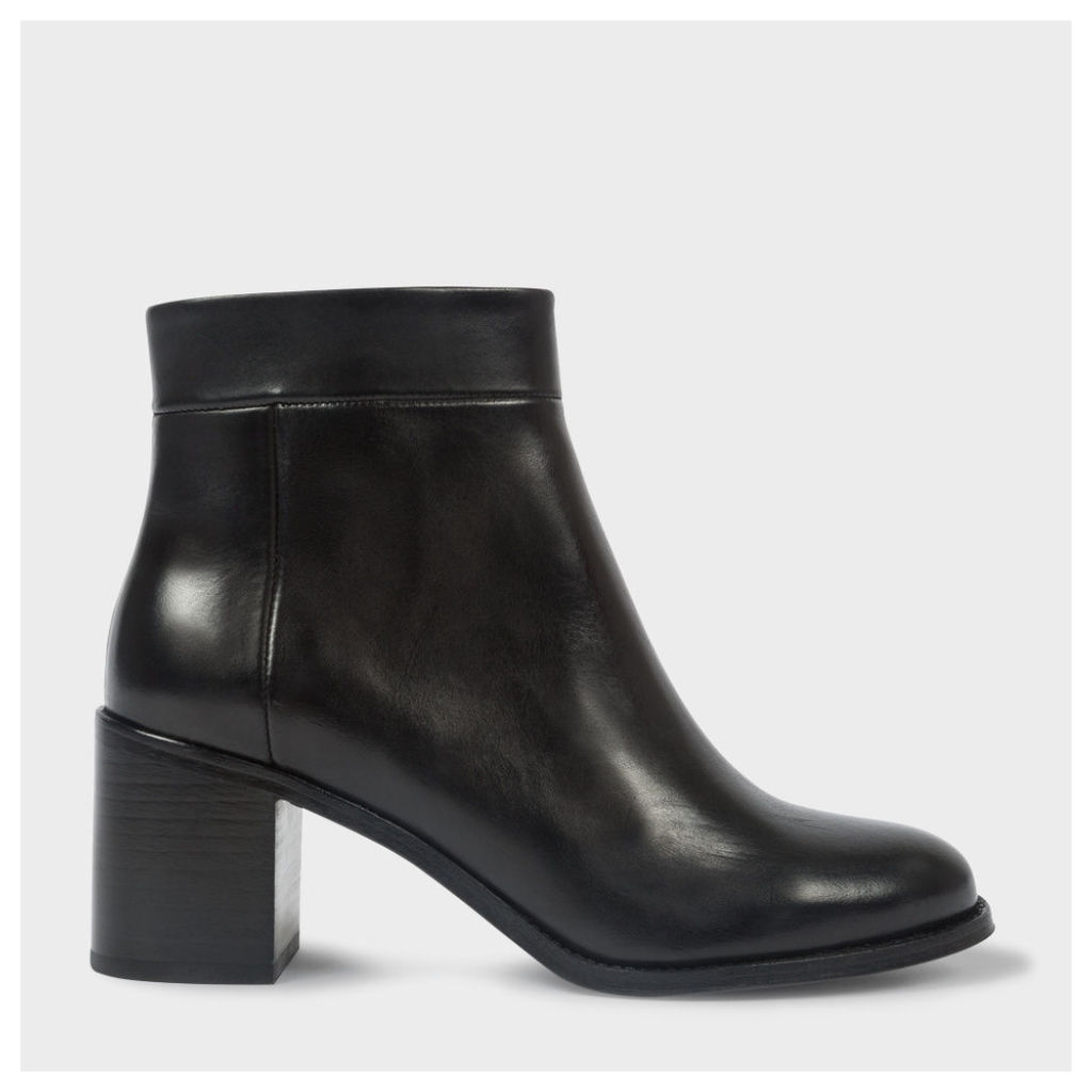 Women's Black Calf Leather 'Jade' Boots