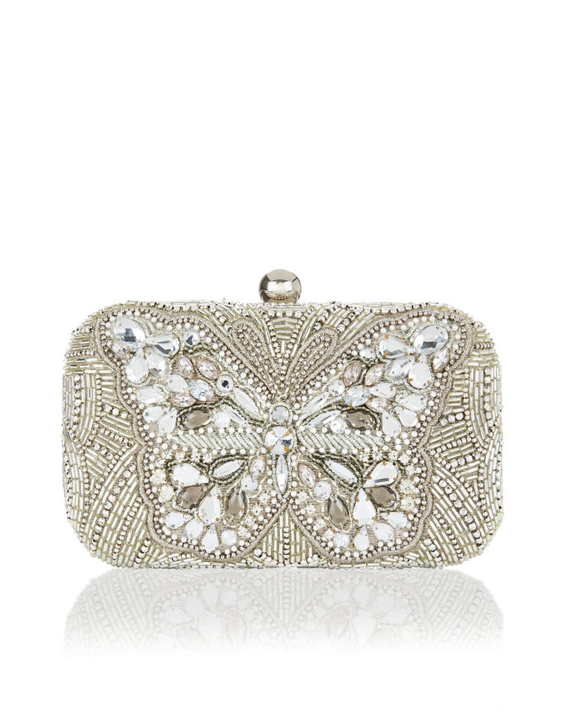 Butterfly Crystal Hardcase Clutch Bag