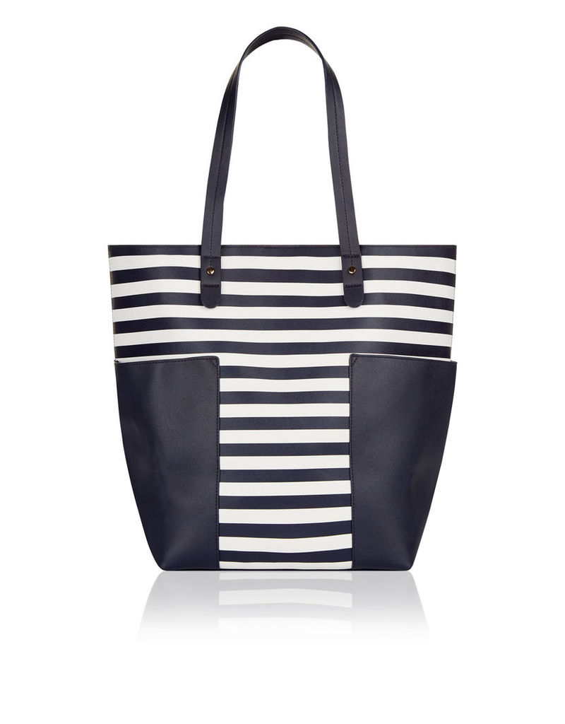 Madison Stripe Tote Bag
