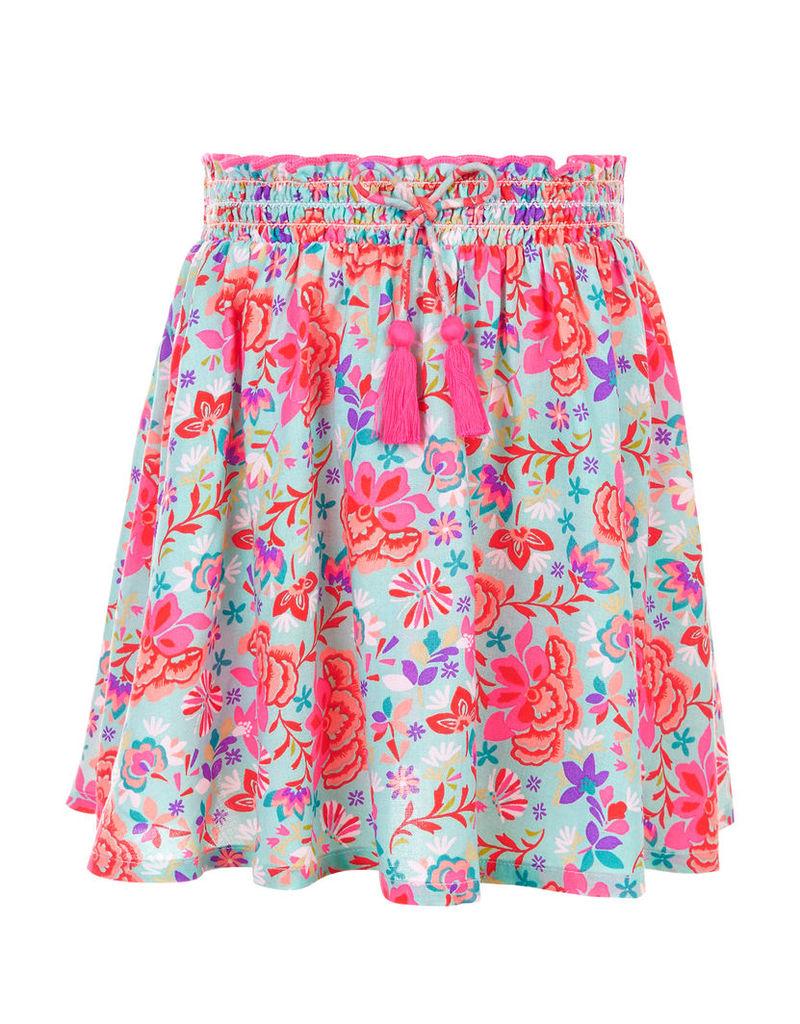 Mexicana Floral Print Skirt