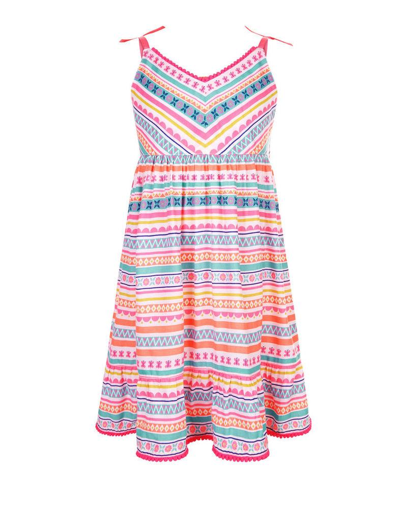 Mexicana Aztec Print Dress
