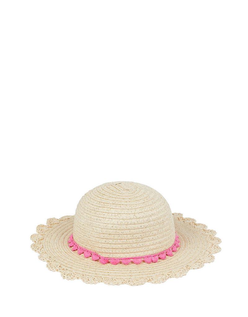 Gold Shimmer Floppy Straw Hat