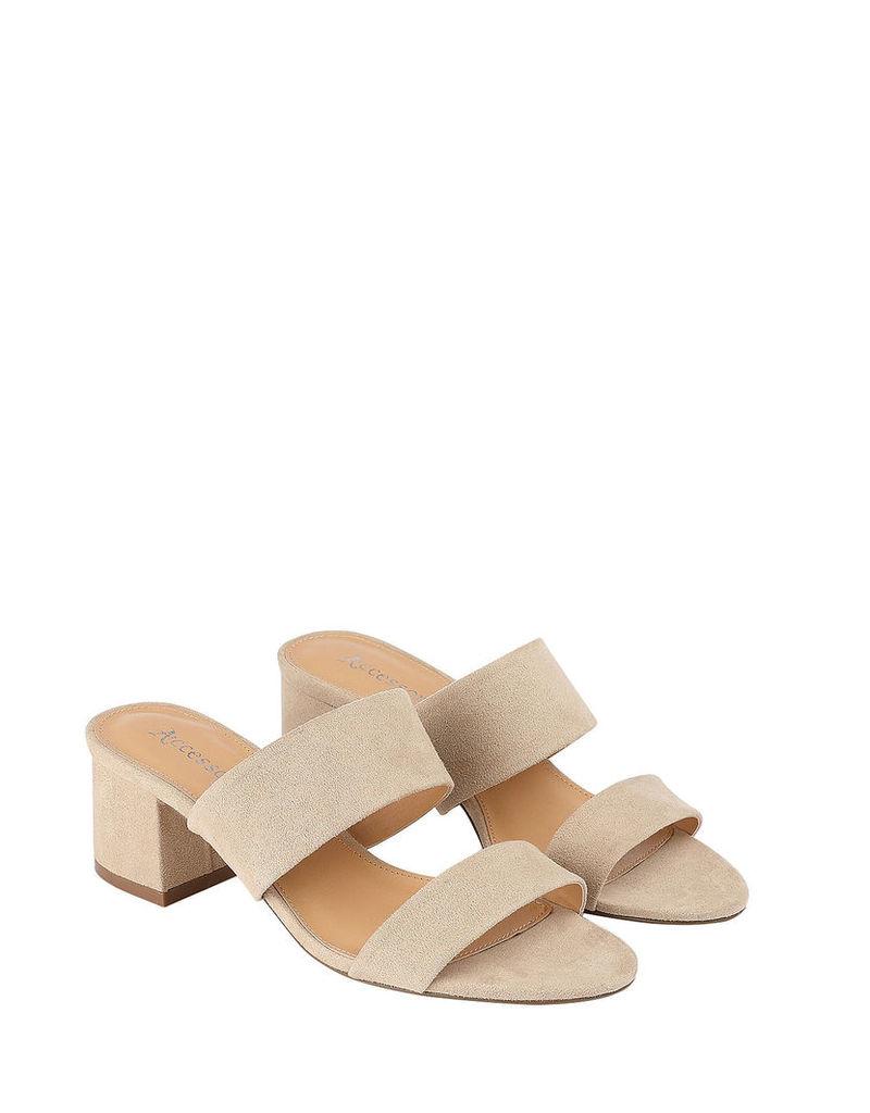 Double Strap Block Heel Sandals