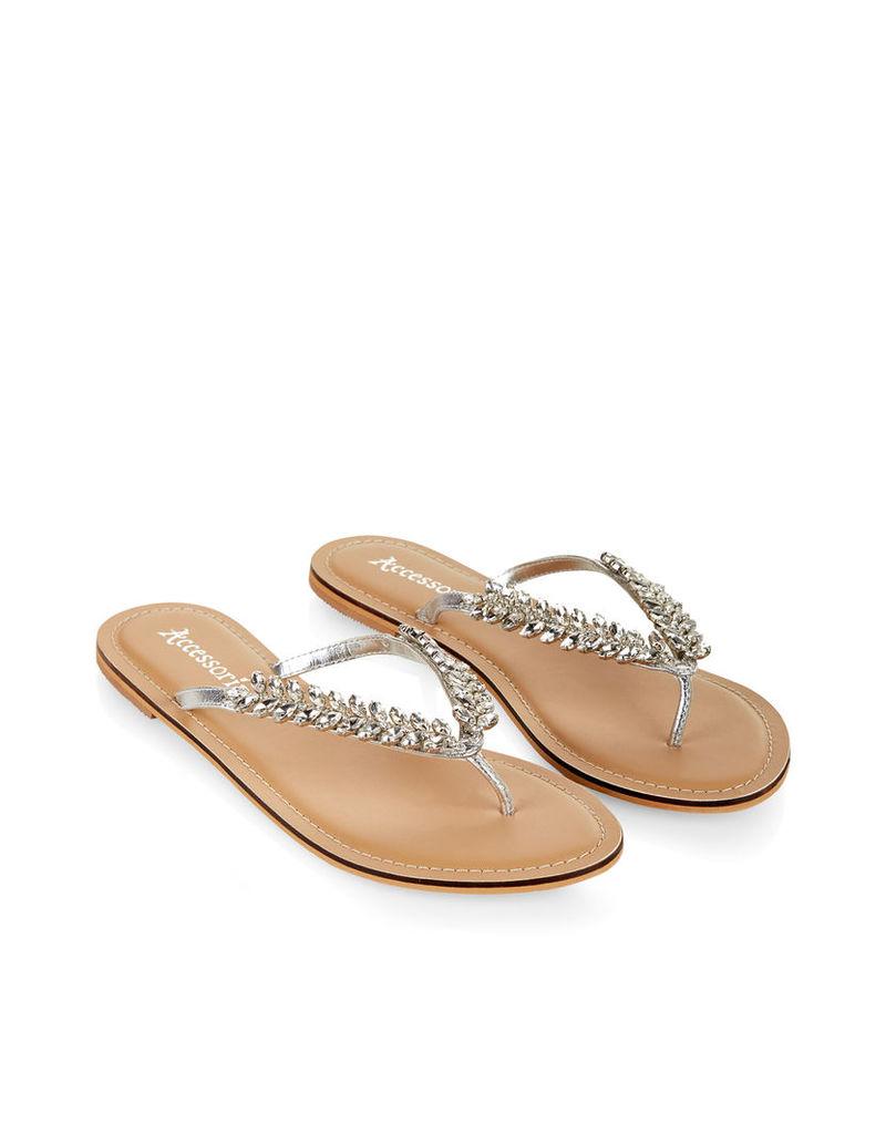 Kady Leaf Thong Sandals