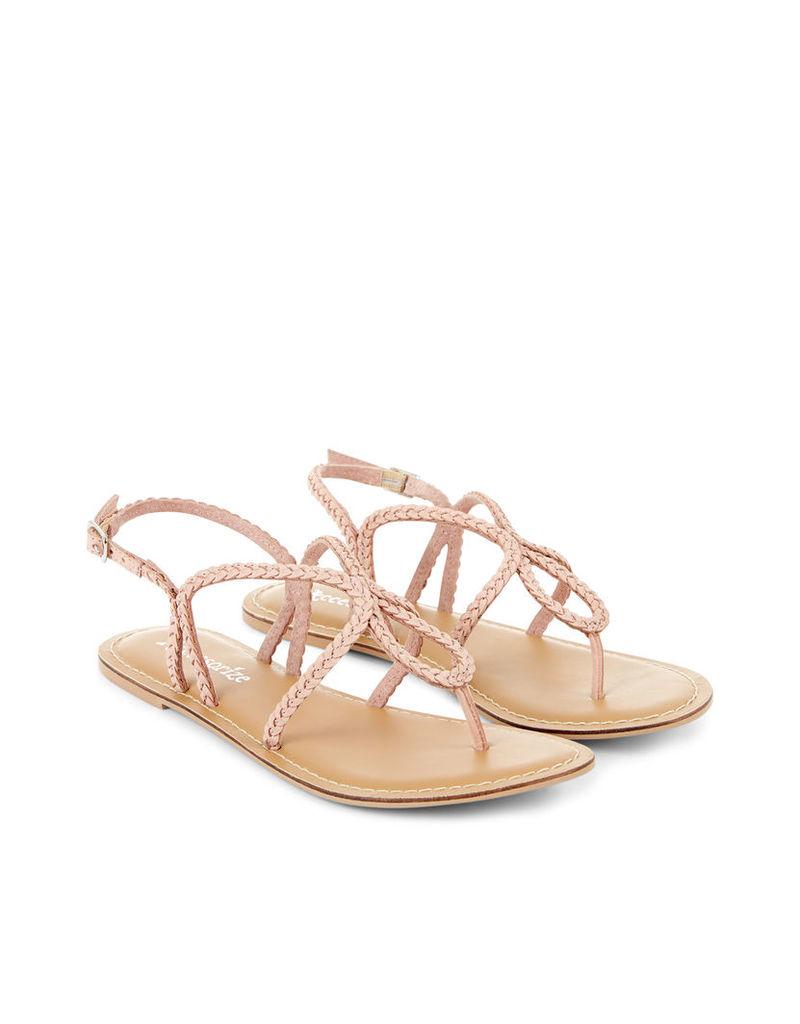 Chrissy Plaited Sandal