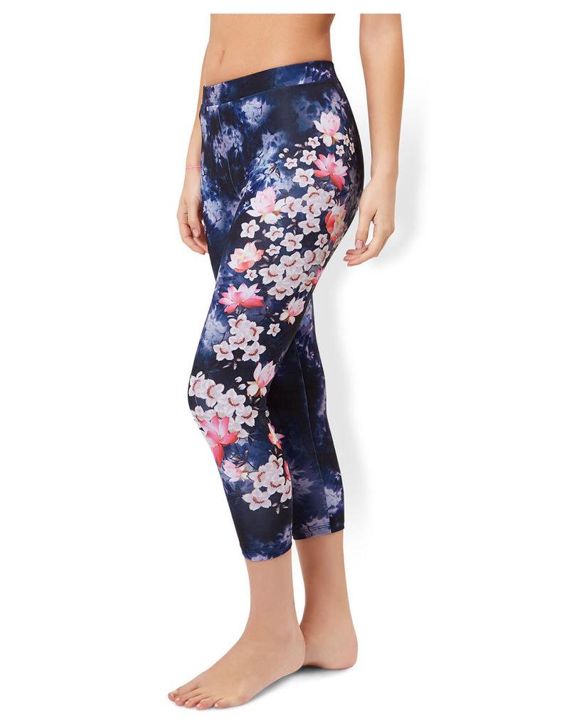 Lotus Floral Print Leggings