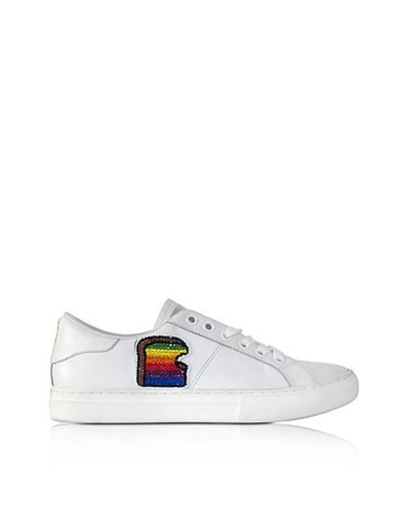 Marc Jacobs - White leather Empire Toast Low Top Sneaker