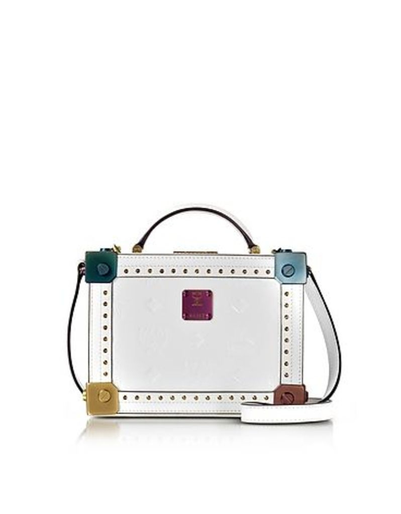 MCM - Berlin White Patent Leather Small Crossbody Bag