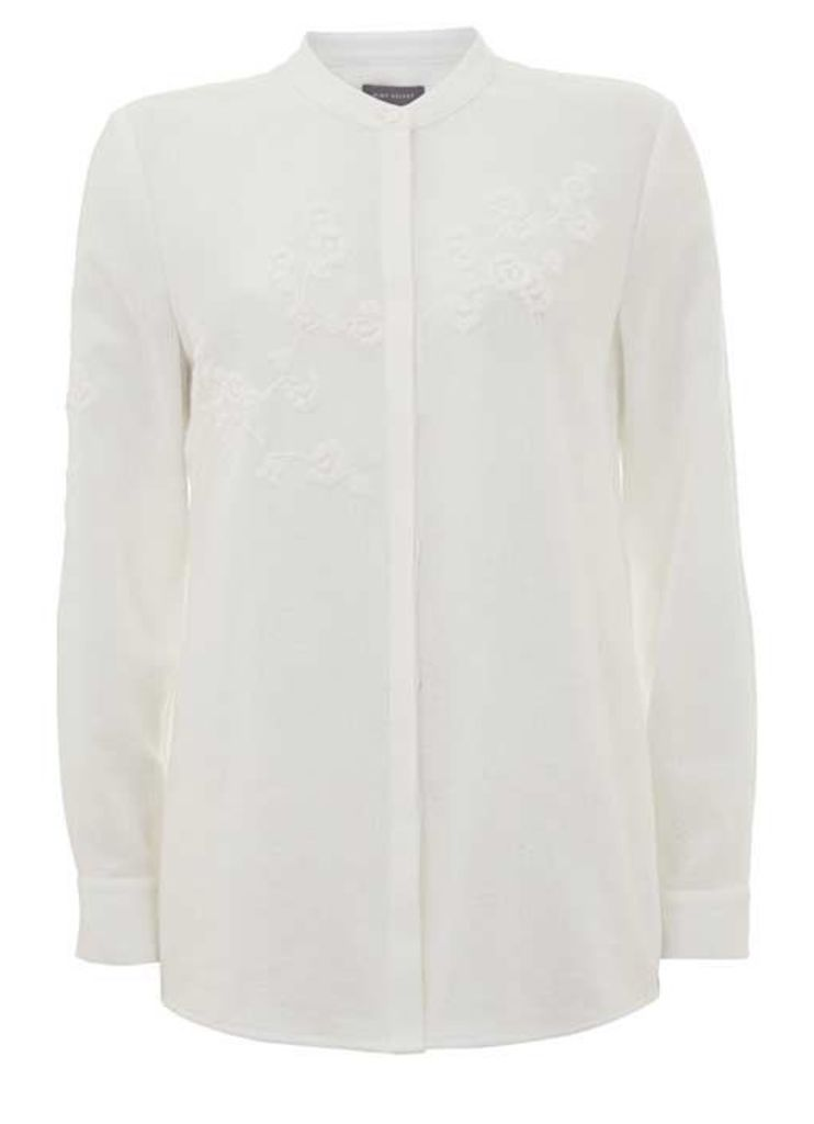 Ivory Embroidered Shirt