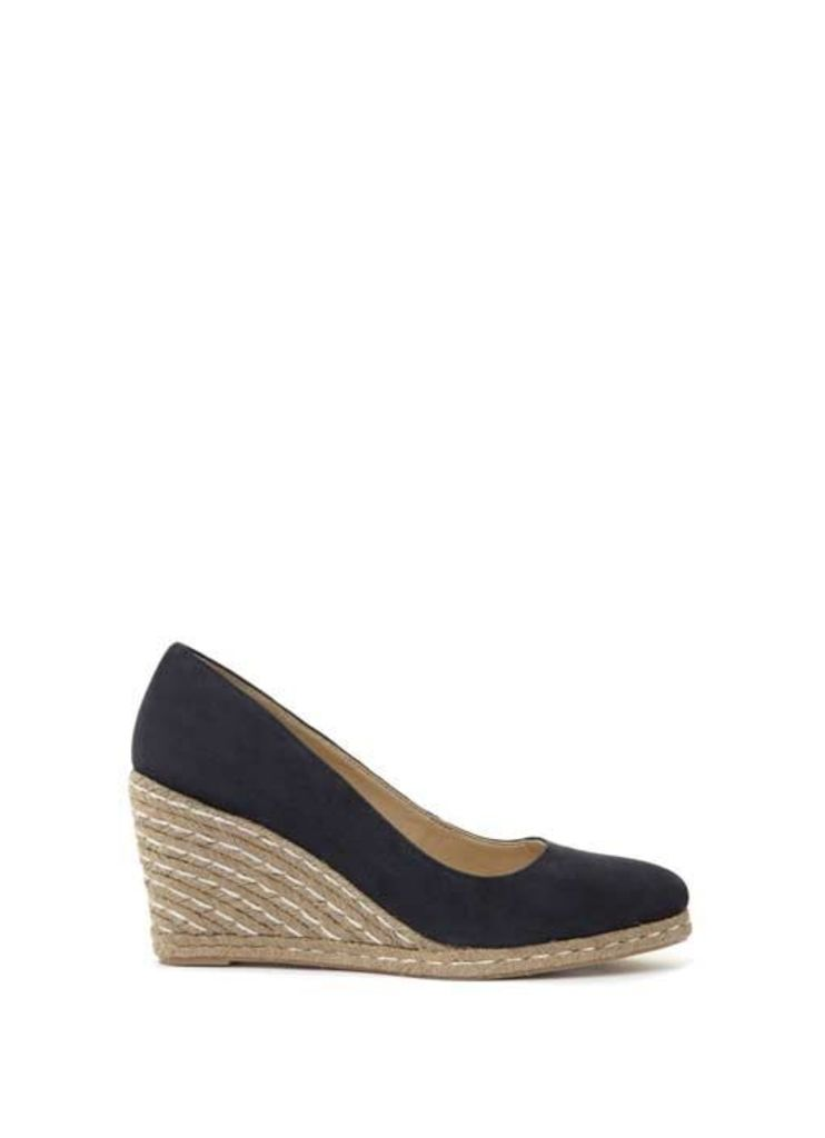 Navy Grace Espadrille Wedge