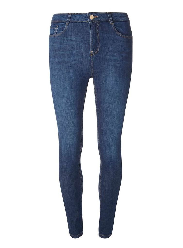 Womens Blue Mid Wash Shape And Lift Jeans- Blue