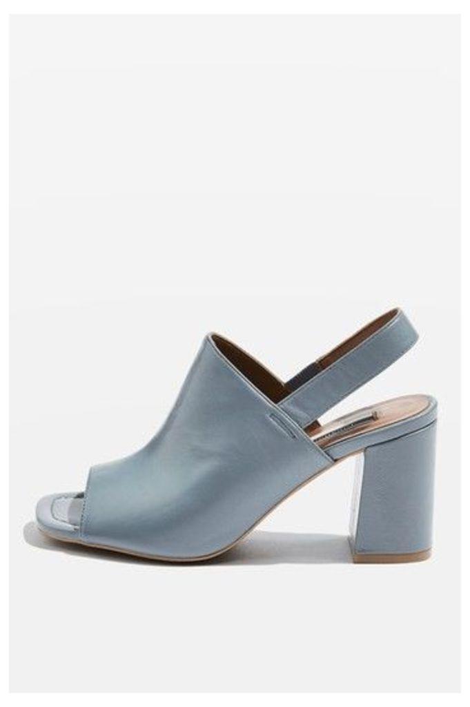Womens NARRATOR Slingback Heels - Blue, Blue