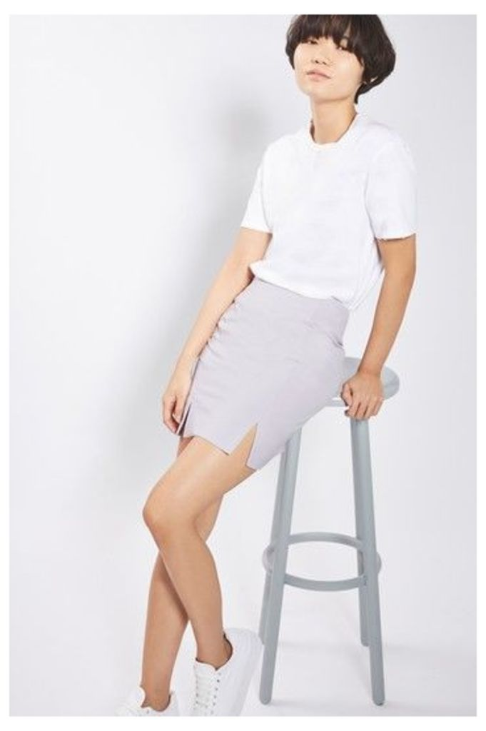 Womens Tailored Suit Skirt - Lilac, Lilac