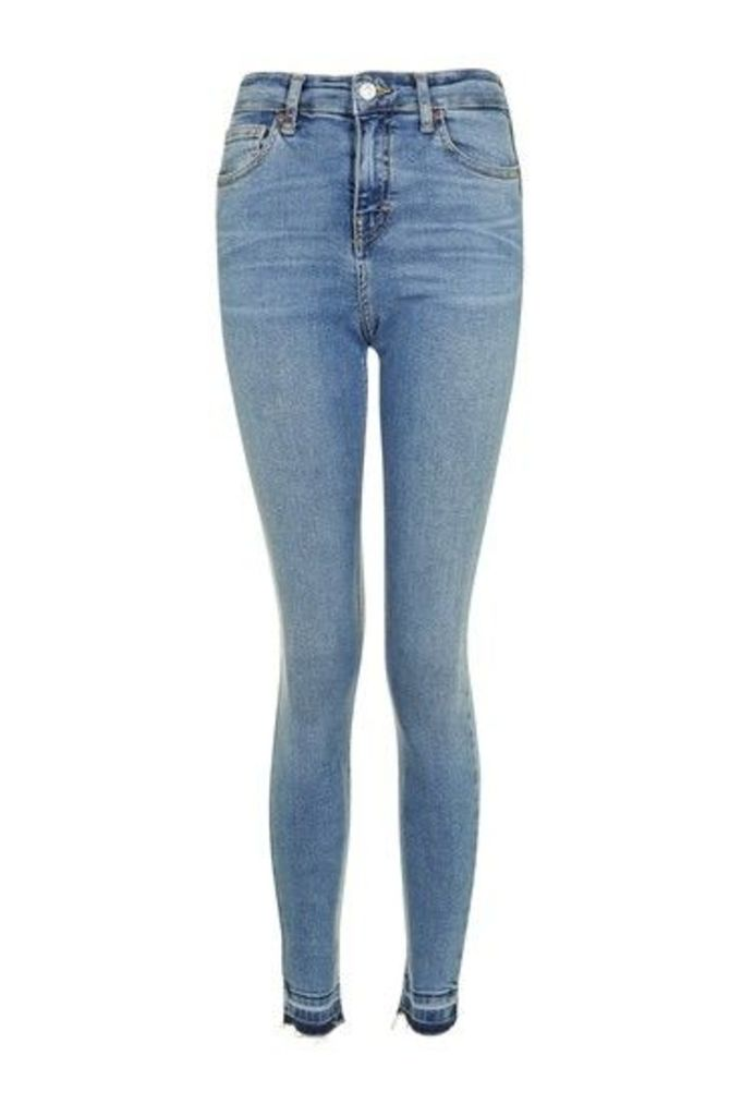 Womens MOTO Mid Blue Let Hem Jamie Jeans - Blue, Blue