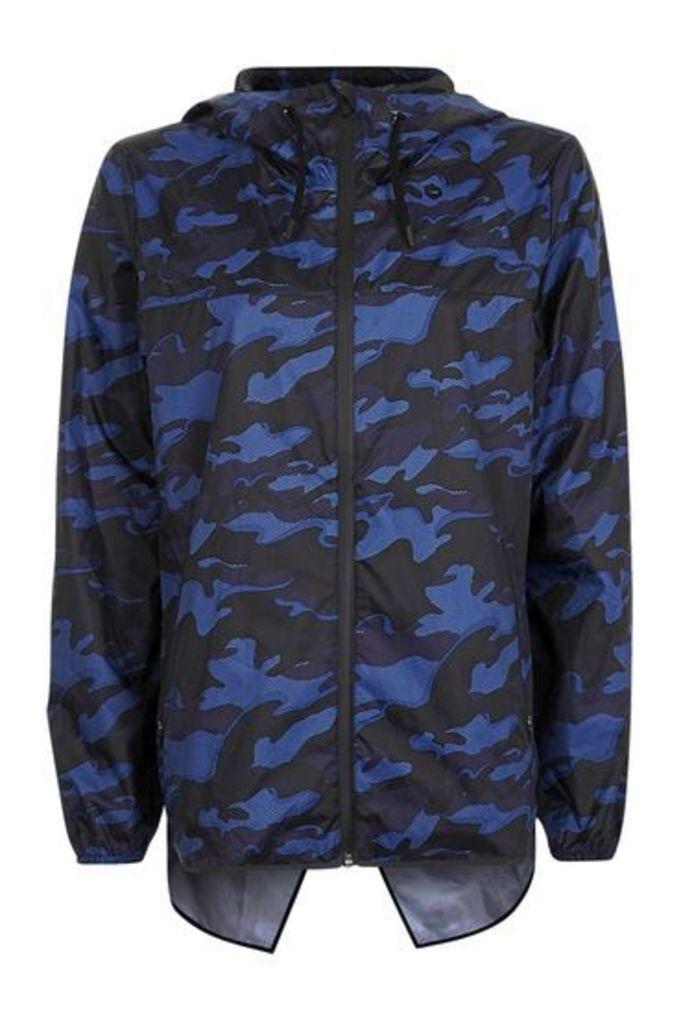 Womens Camo Wrap Back Jacket by Ivy Park - Navy Blue, Navy Blue