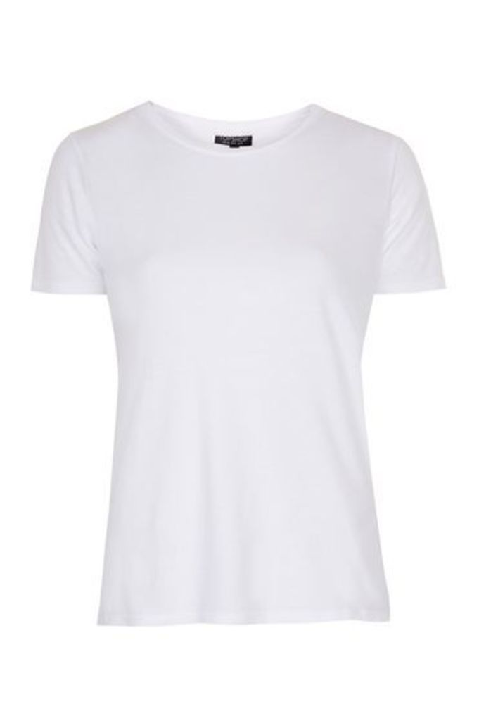 Womens Soft Washed Tee - White, White