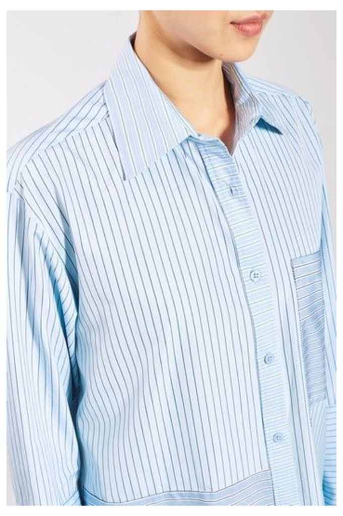 Womens Reconstructed Stripe Shirt by Boutique - Multi, Multi