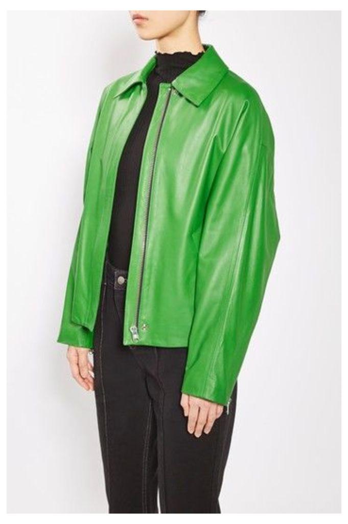 Womens Biker Shirt by Boutique - Green, Green