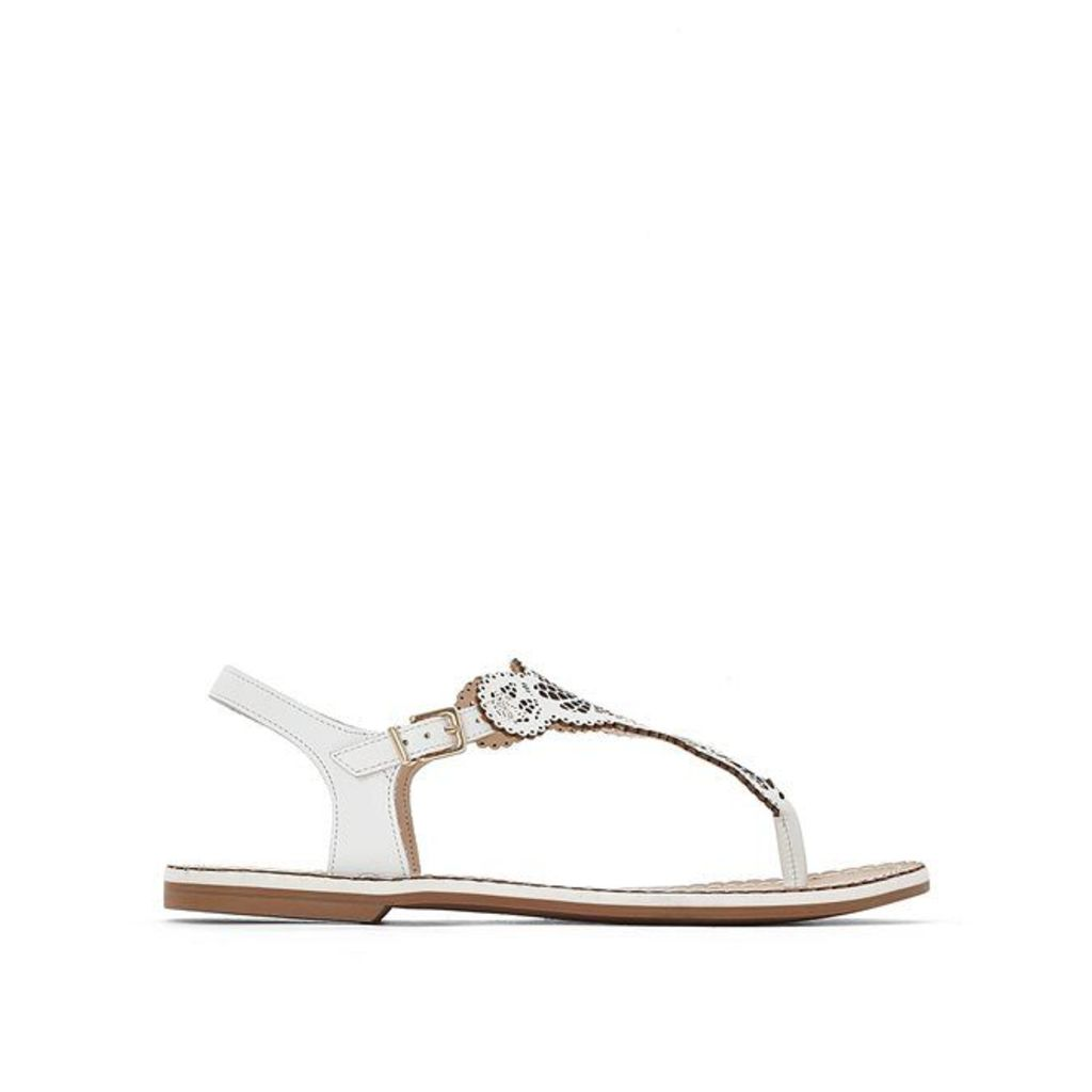 Lill Leather Toe Post Sandals