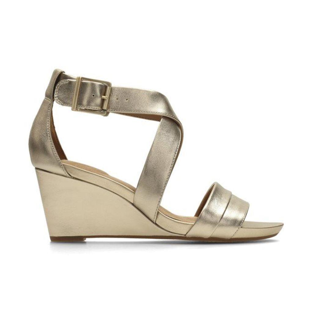 Acina Newport Leather Wedge Sandals