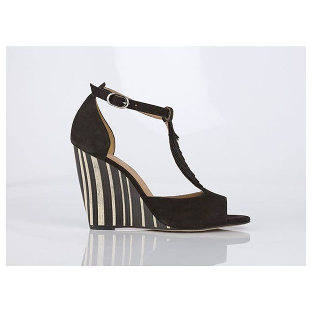 Brady Leather Sandals with Fringing Detail